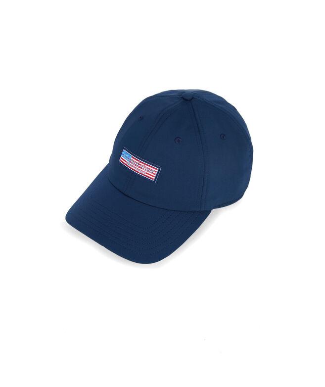 Flag Logo Box Performance Baseball Hat