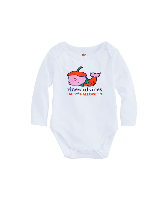 Baby Pumpkin Whale Long-Sleeve Bodysuit