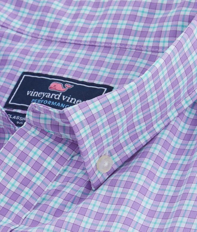 Oyster Pond Plaid Slim Performance Murray Shirt