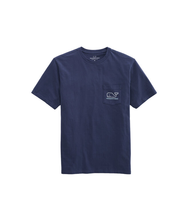 Two Color Whale Short-Sleeve Pocket Tee