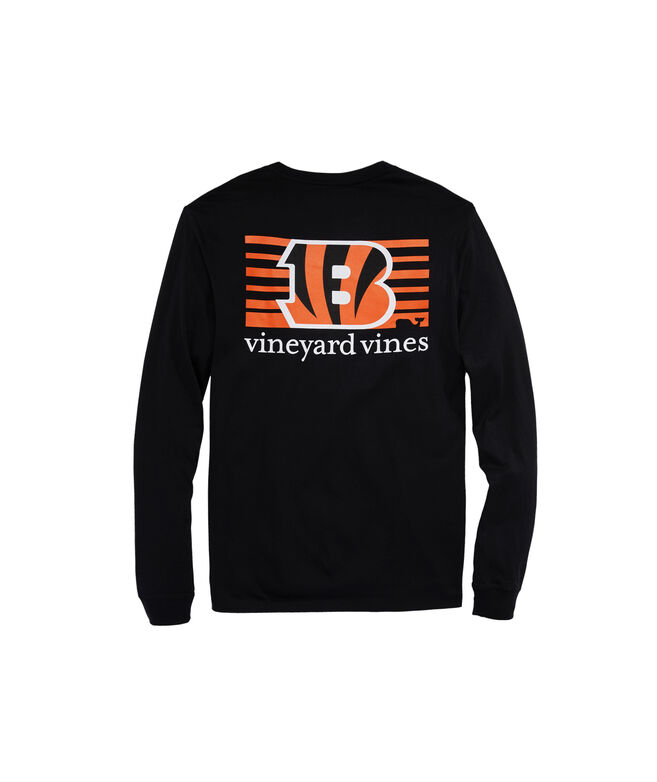 Cincinnati Bengals Long-Sleeve Block Stripe Tee