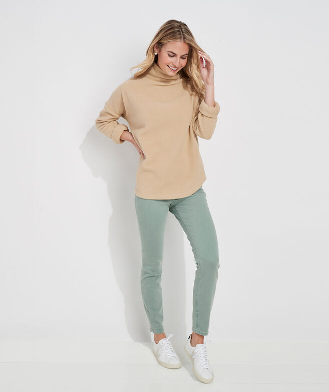 Funnel-Neck Cozy Fleece Top