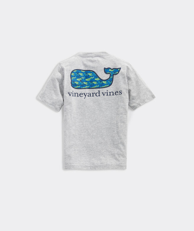 Boys' Tarpon Palms Whale Fill Short-Sleeve Pocket Tee