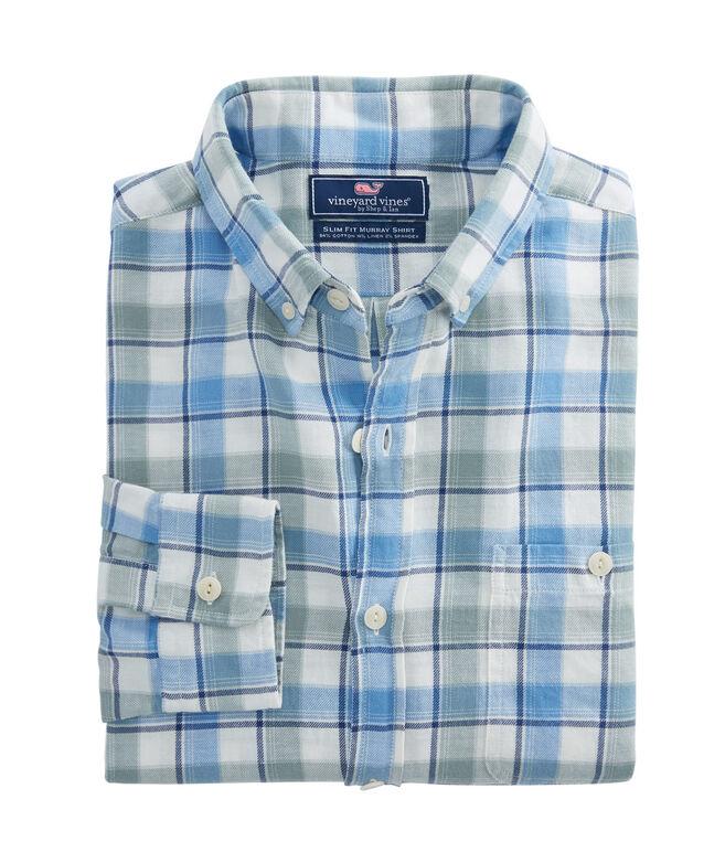 Bayside Plaid Beach Flannel Slim Tucker Shirt