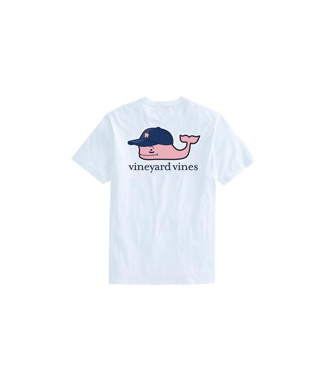 Kids Houston Astros Baseball Cap Pocket T-Shirt