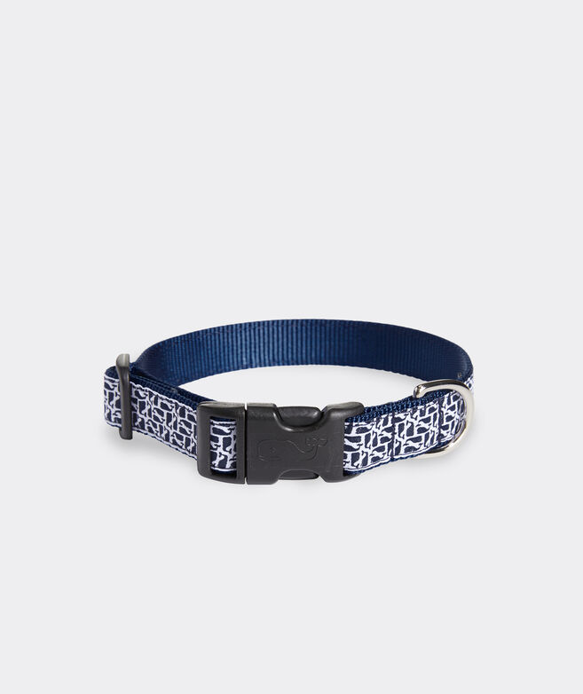 Puzzle Whale Dog Collar