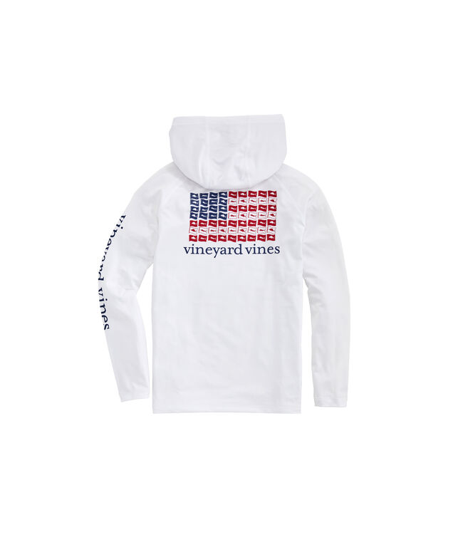 Boys' USA Release Flags Long-Sleeve Performance Hoodie T-Shirt
