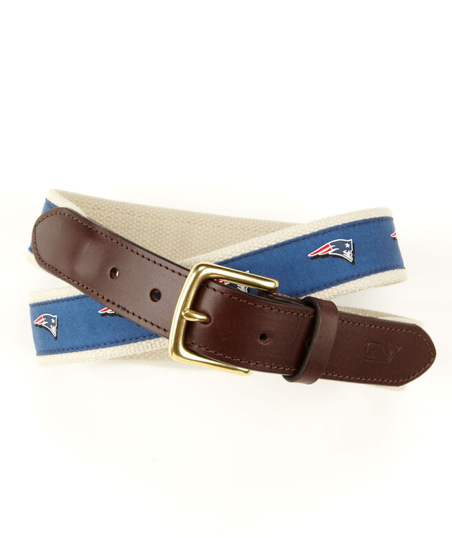 New England Patriots Canvas Club Belt