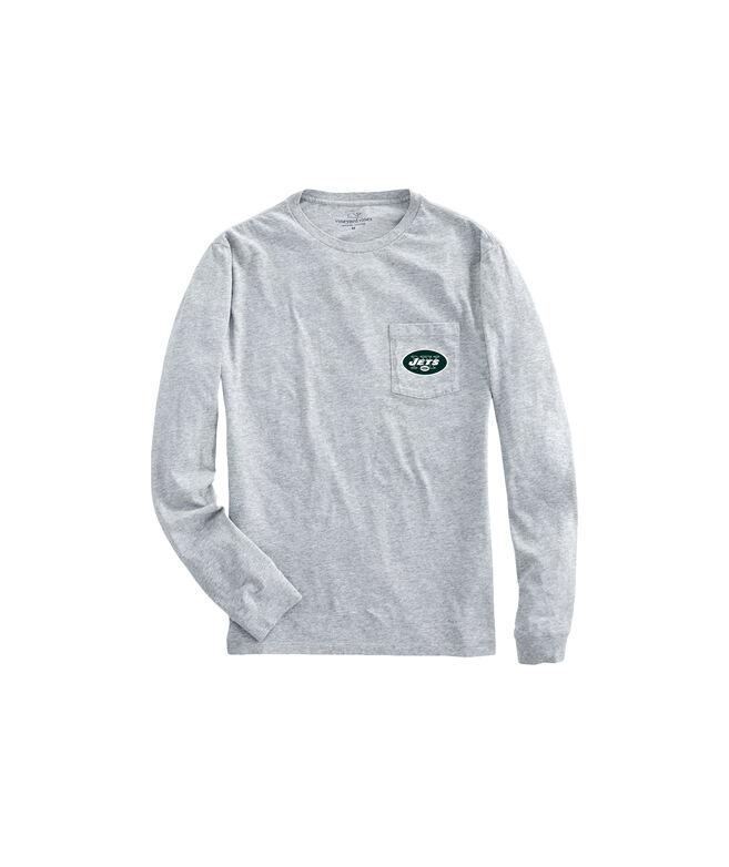 New York Jets Long-Sleeve Block Stripe Tee