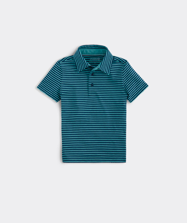 Boys' Carmel Open Stripe Heather Polo