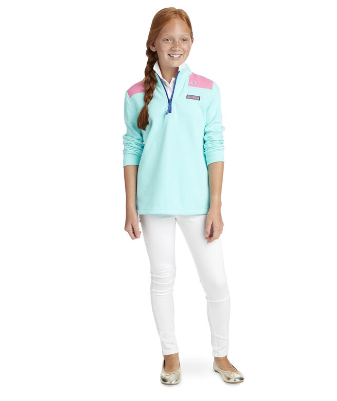 Girls Whale Embroidered Relaxed Shep Shirt