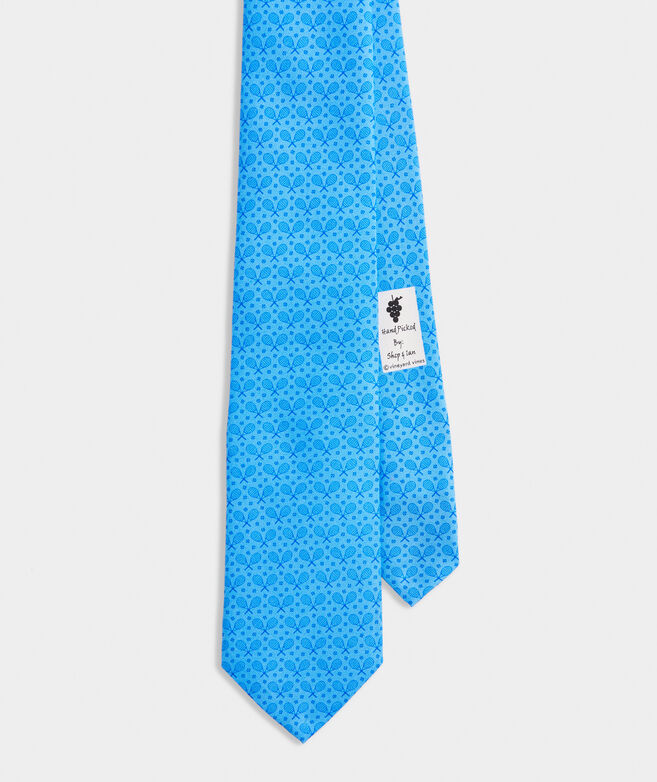 Tonal Tennis Printed Tie