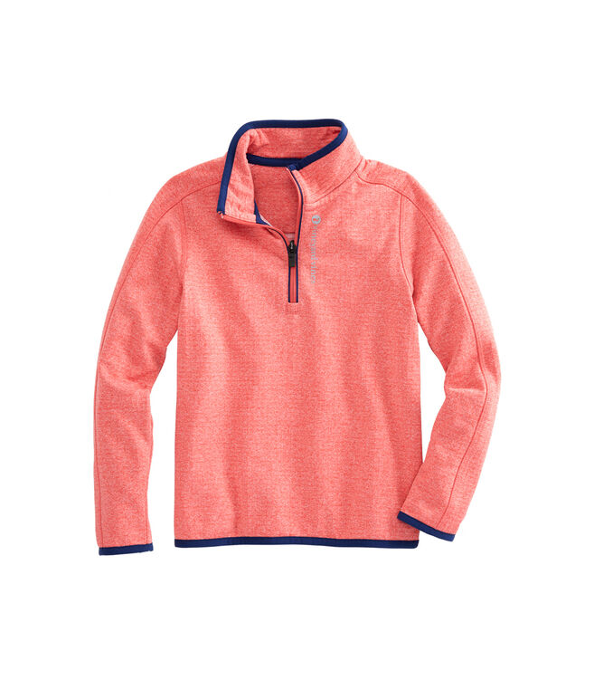 Boys 1/4-Zip Grid Fleece