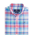 Boys Bridgehampton Plaid Beach Tartan Whale Shirt