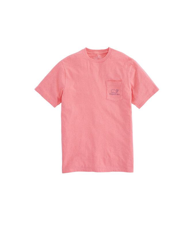 Heathered Vintage Whale Pocket T-Shirt