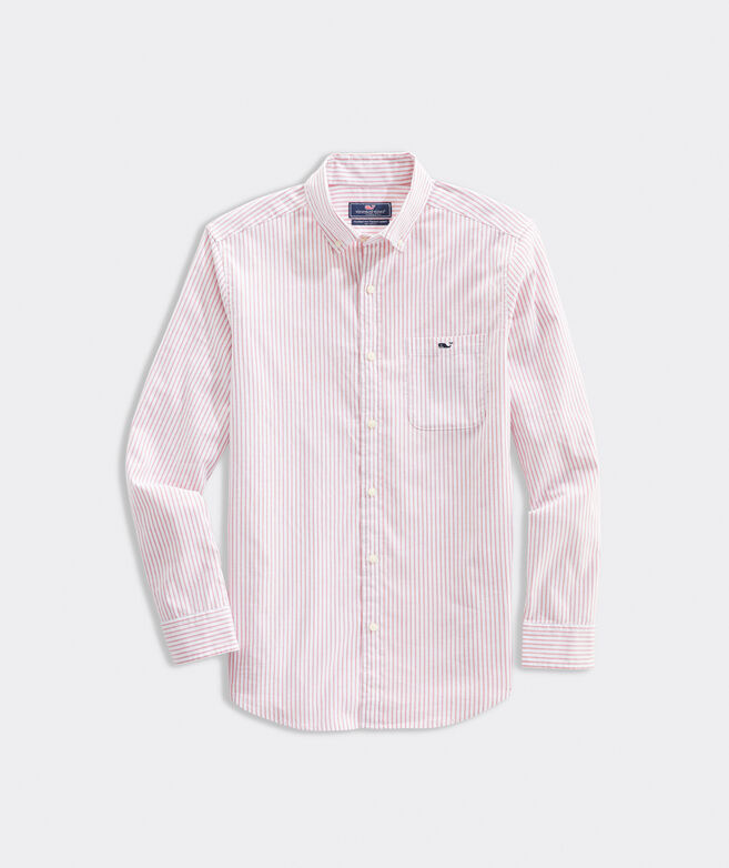 Classic Fit Pinpoint Oxford Stripe Tucker Shirt