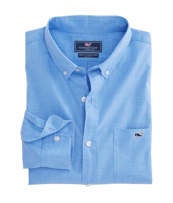 Heathered Slim Tucker Shirt