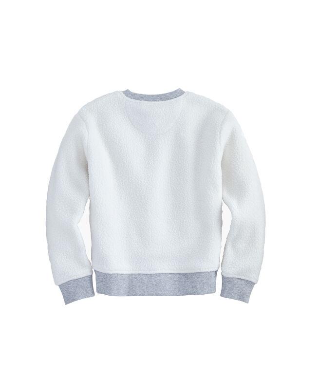 Girls Sherpa Crewneck Sweatshirt
