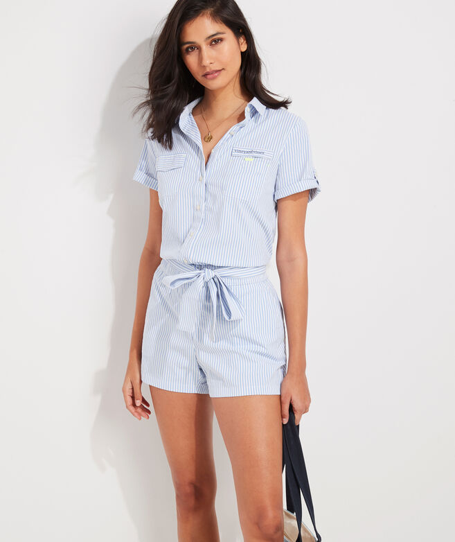 Vineyard Seersucker Harbor Romper