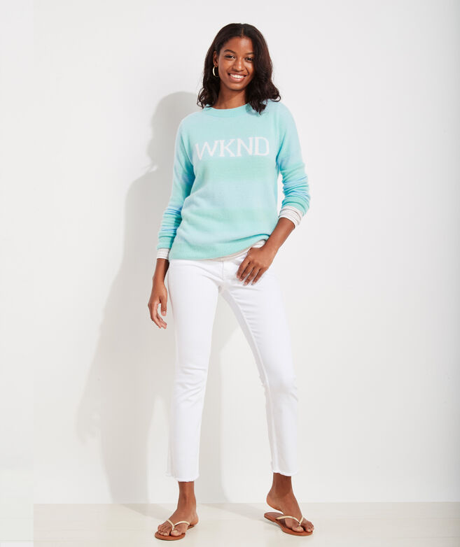Seaspun Cashmere Striped Weekend Sweater