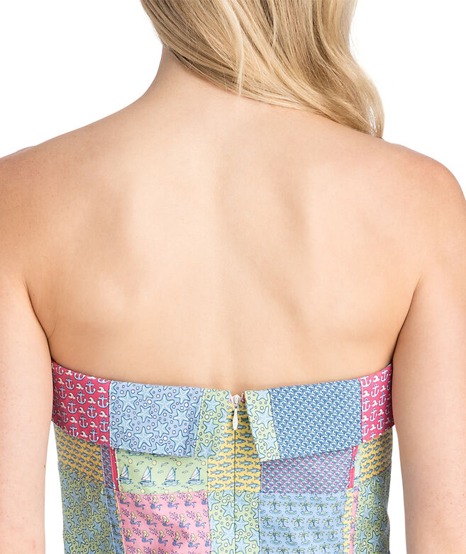 Heritage Original Patchwork Strapless Dress