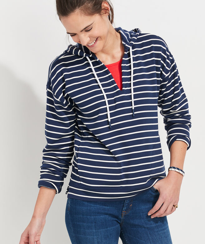 Dreamcloth Break Stripe Popover Hoodie