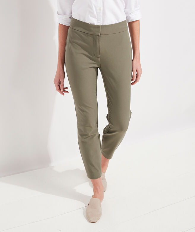 Bi-Stretch Slim Ankle Pants