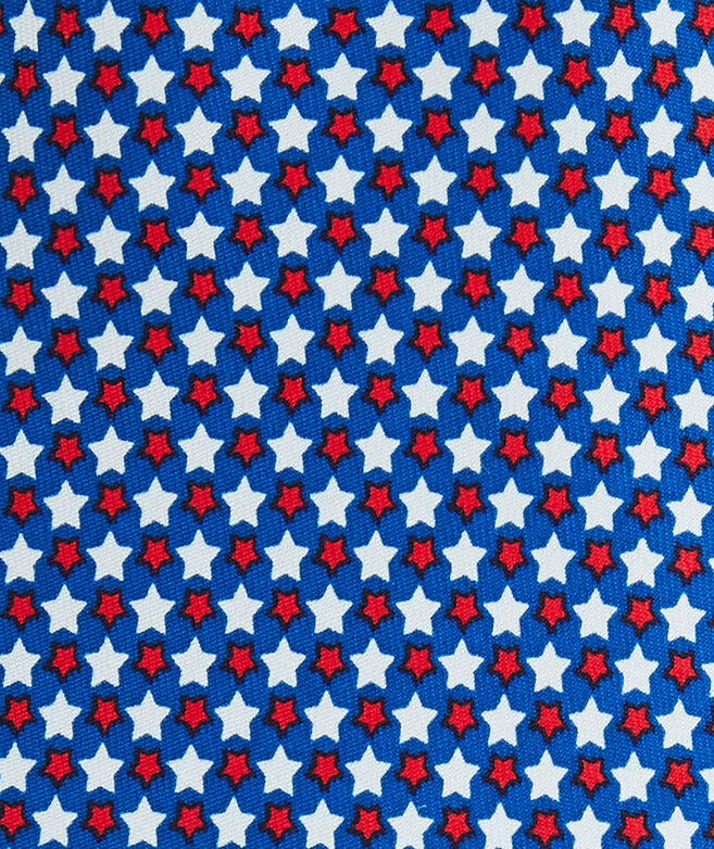 Extra Long Star Spangled Printed Tie