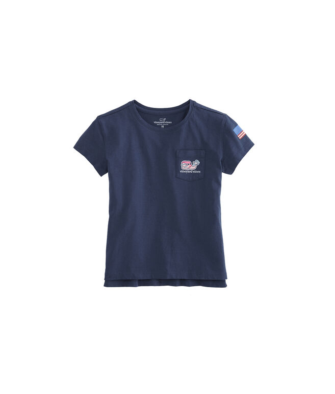 Girls Lacrosse Whale Pocket Tee