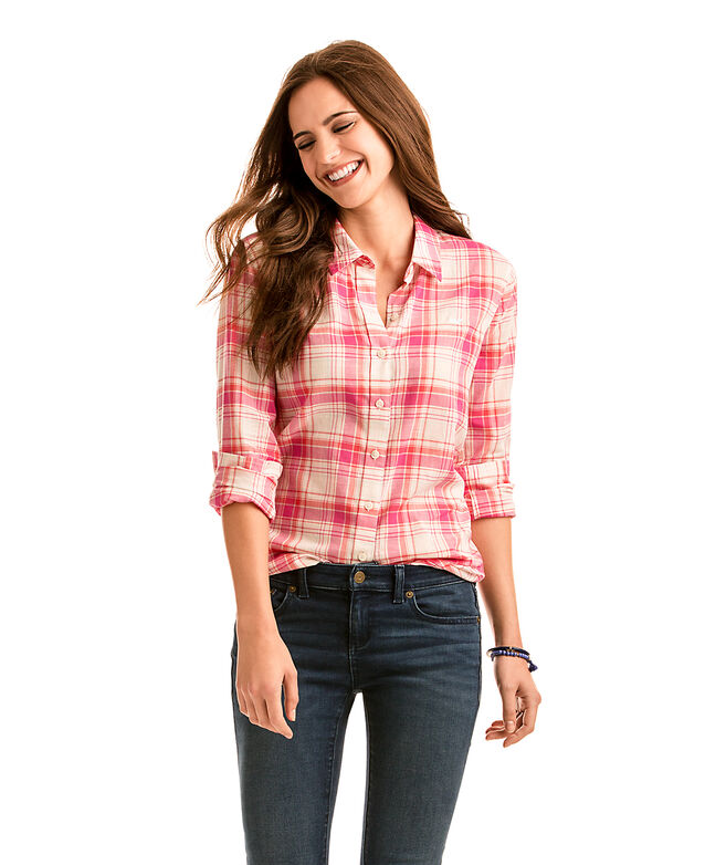 Resort Plaid Relaxed Button Down