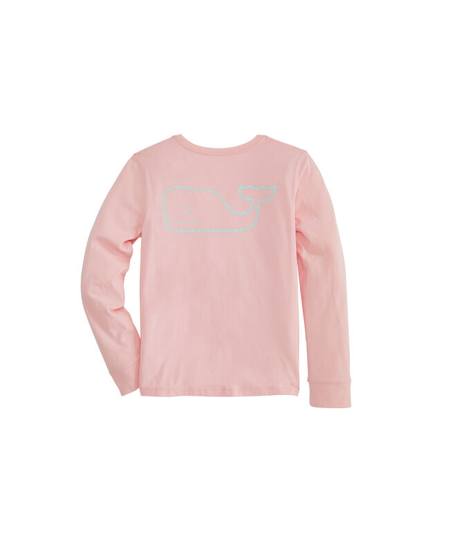 Girls Long-Sleeve Glow In The Dark Pocket Tee