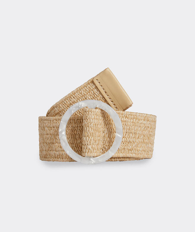 Stretch Straw Acrylic Buckle Belt
