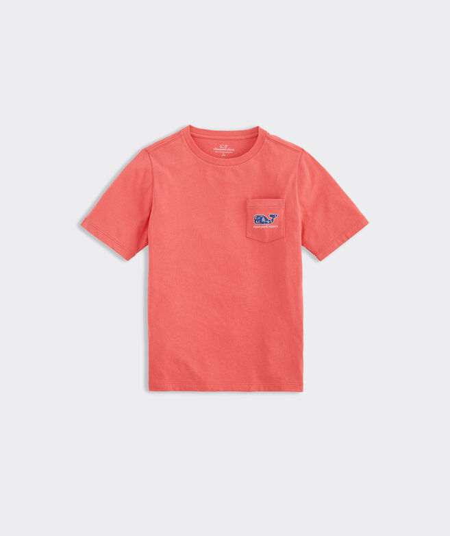 Boys' Sailing Crew Whale Fill Short-Sleeve Pocket Tee