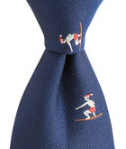 Kennedy Christmas Surf Skinny Tie