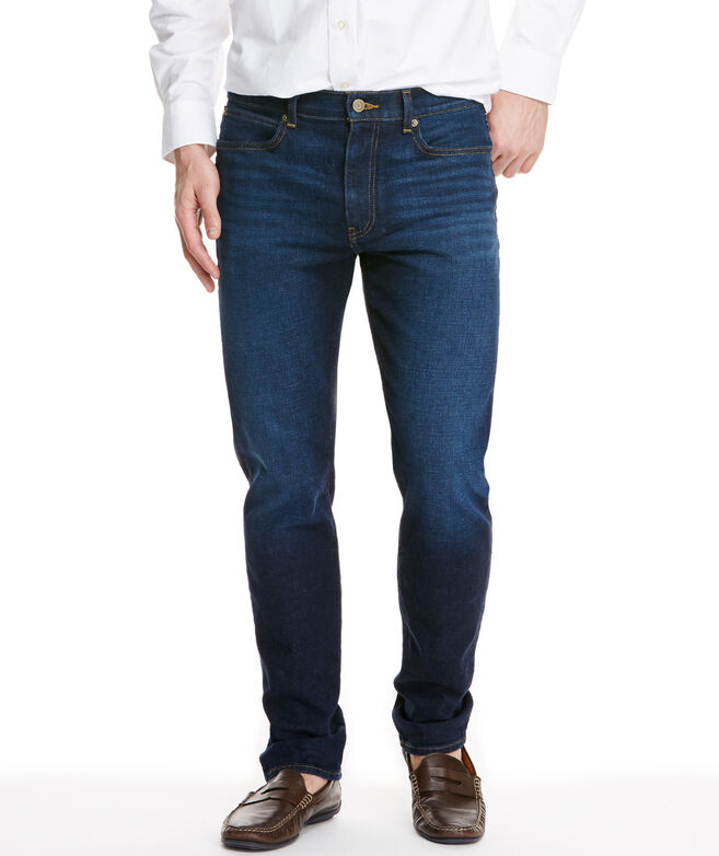 Straight-Leg Denim, Dark Wash