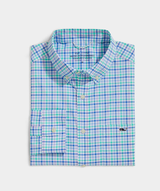 Classic Fit Check On-The-Go Shirt in Performance Nylon