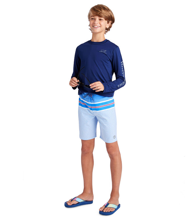 Boys Birchcliff Stripe Board Shorts