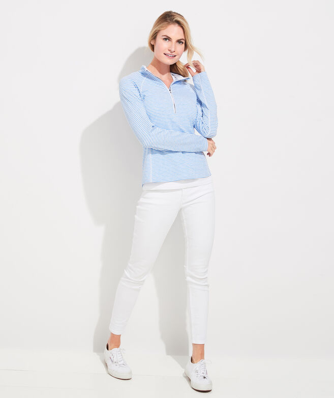 Heathered Winstead Stripe Sankaty 1/2-Zip Pullover