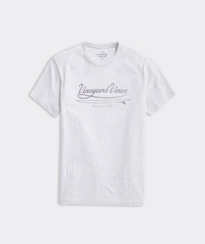 Distressed Surf Script Short-Sleeve Island Tee
