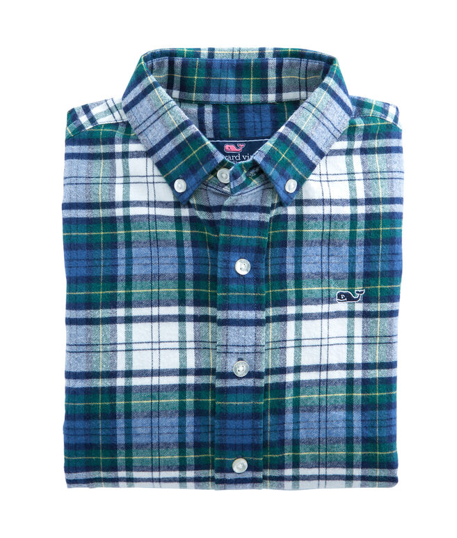Hayward Point Plaid Flannel Whale Shirt