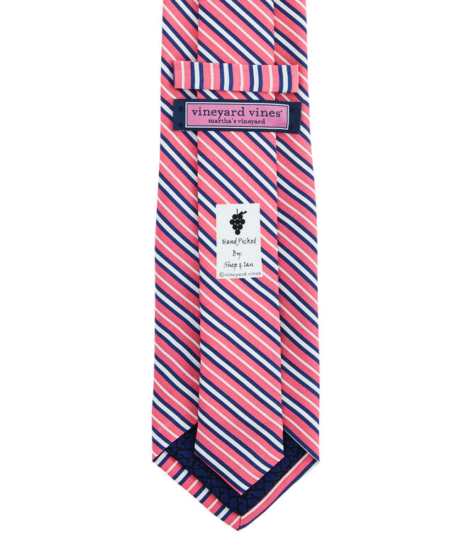 Thin Triple Stripe Printed Tie