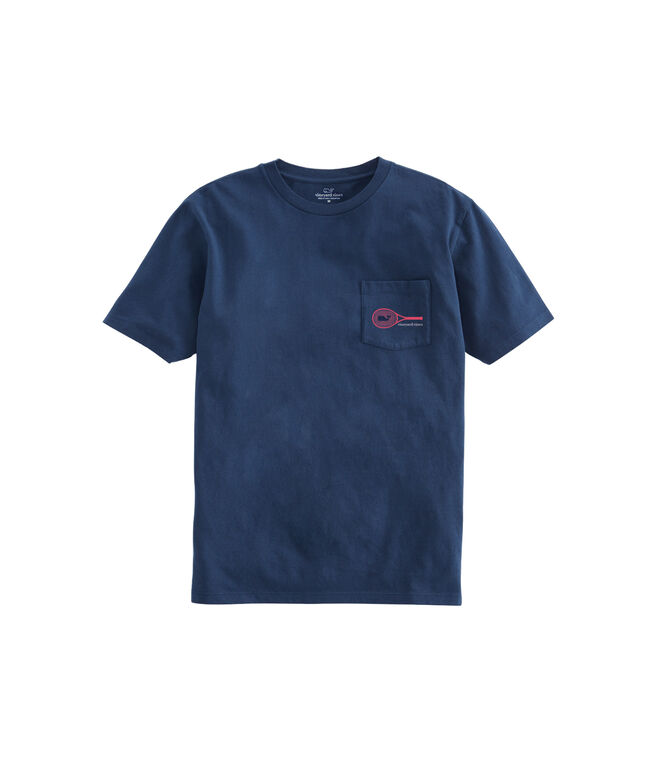 Tennis Racket Short-Sleeve Pocket Tee