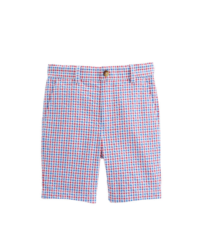 Boys Gingham Seersucker Breaker Shorts