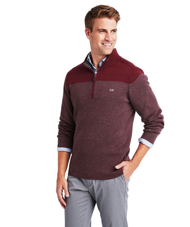 Ridgefield Colorblocked 1/2-Zip Sweater
