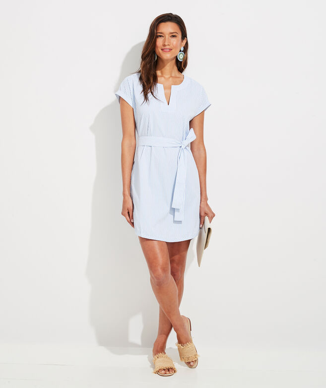 Vineyard Seersucker Harbor Tunic Dress