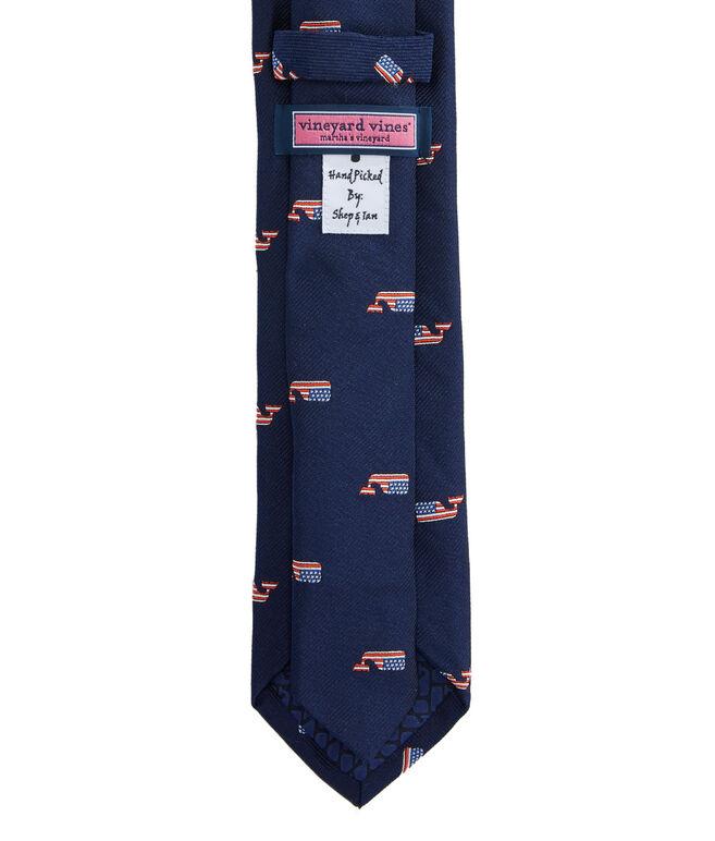 Kennedy Whale Flag Skinny Tie