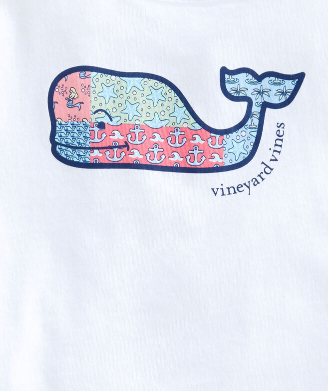 Girls Original Patchwork Whale Swing Tee