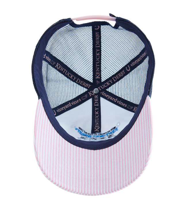 Kentucky Derby Seersucker Trucker