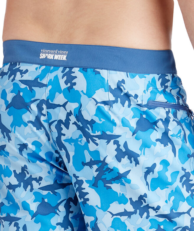Mens Shark Week Camo Board Shorts