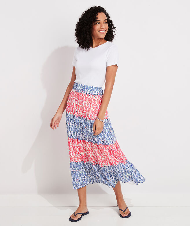 Block Print Tiered Skirt
